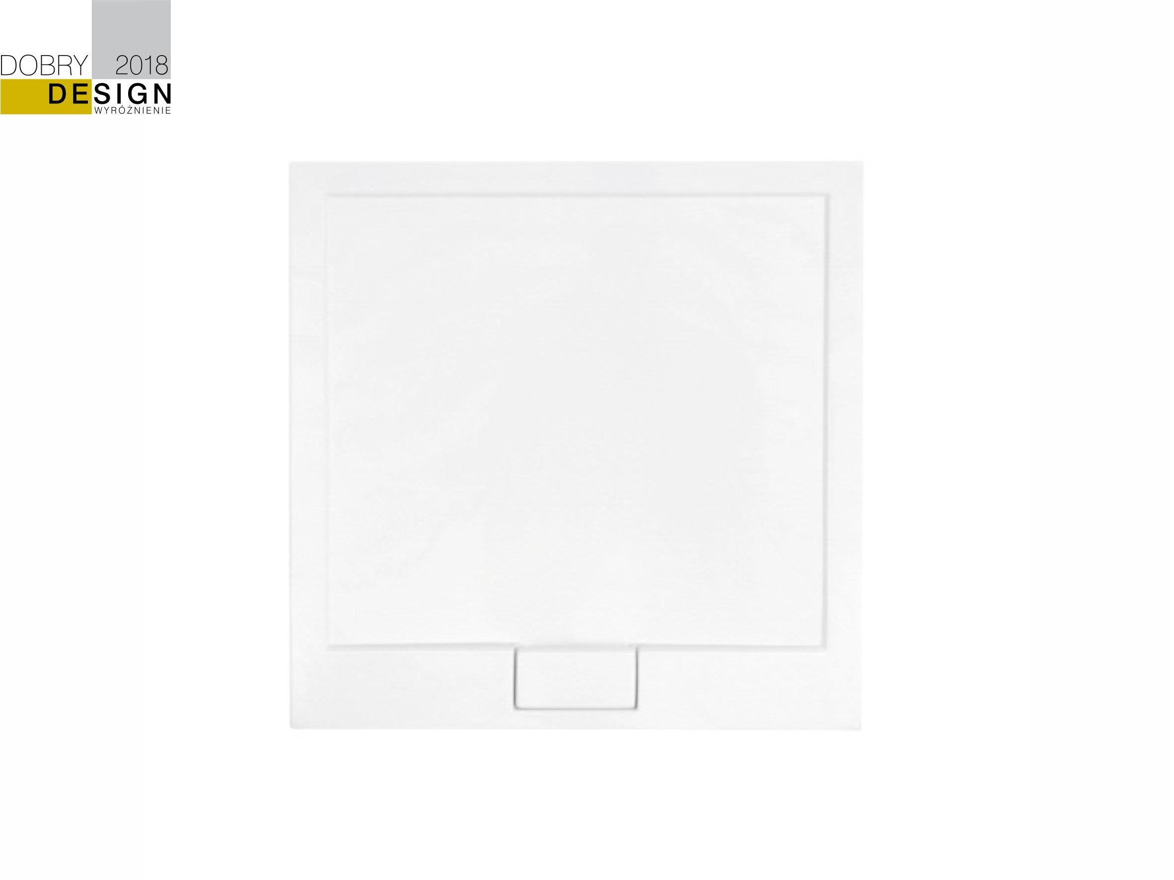 Zdjęcie Brodzik kwadratowy Besco Axim Ultraslim Kwadratowy 90 biały 90x90x4.5 BAX-90-NR