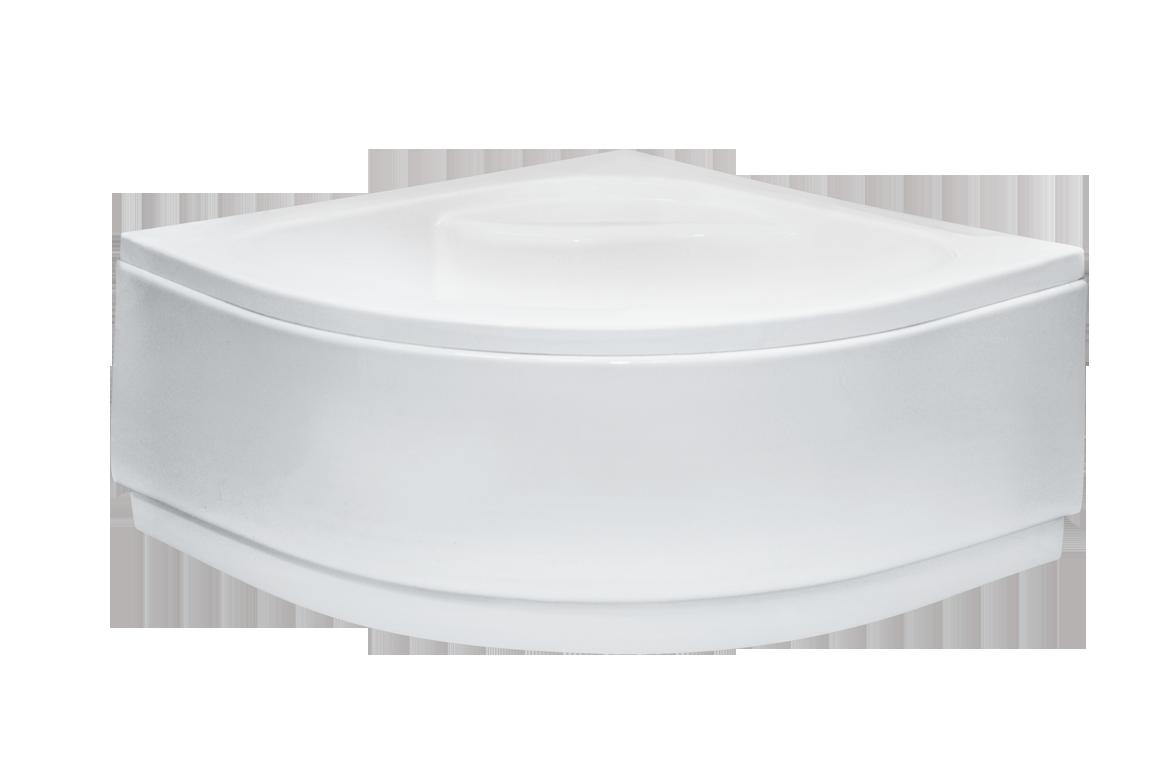 Brodzik półokrągły Besco Diper I 90 biały 90x90x24 BAD-90-NK