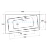 Zdjęcie Wanna narożna asymetryczna Besco Infinity 160 Lewa 160x100cm WAI-160-NL