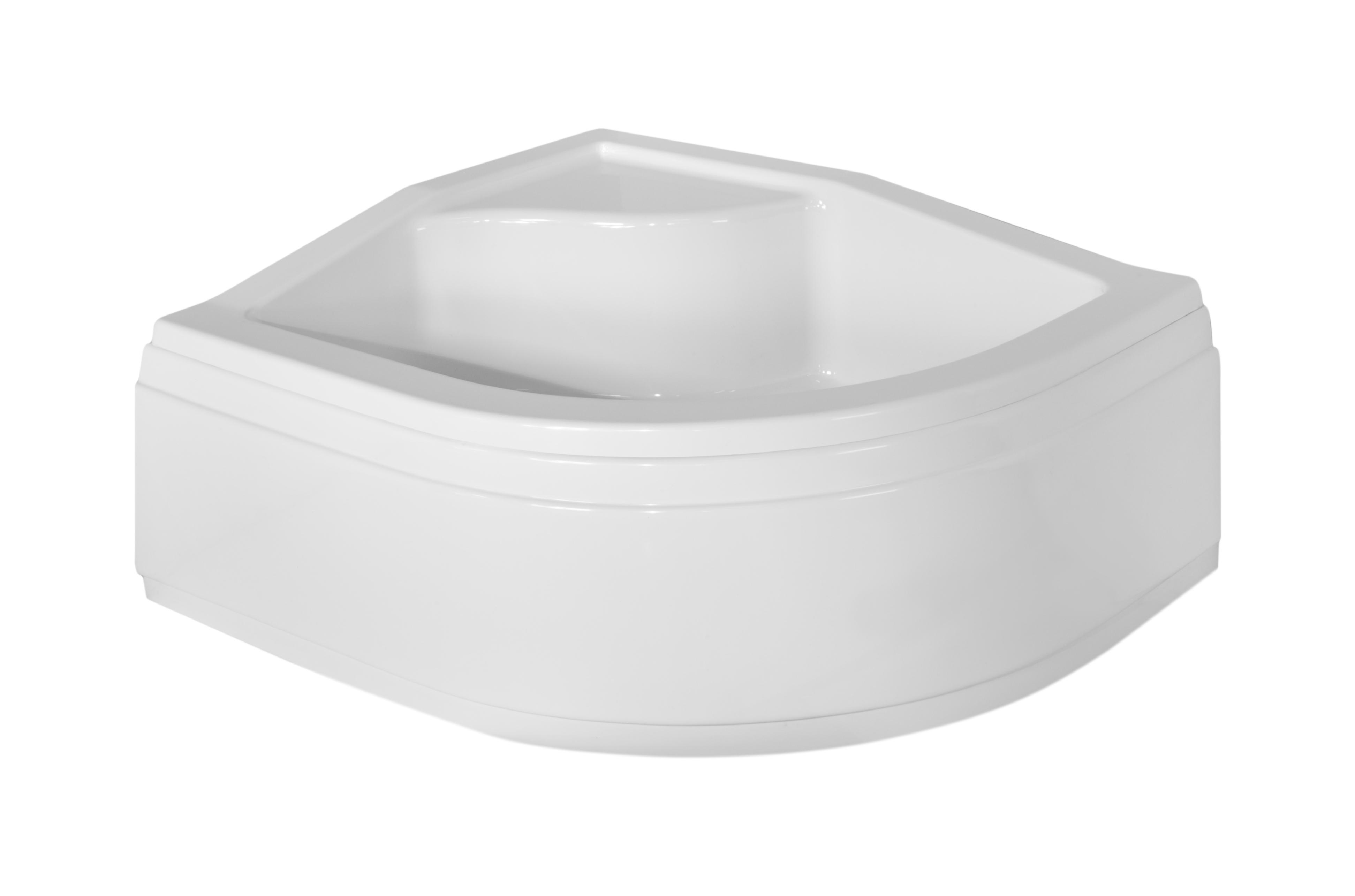 Brodzik asymetryczny Besco Maxi 100L biały 100x80x24 BAM-100-NL