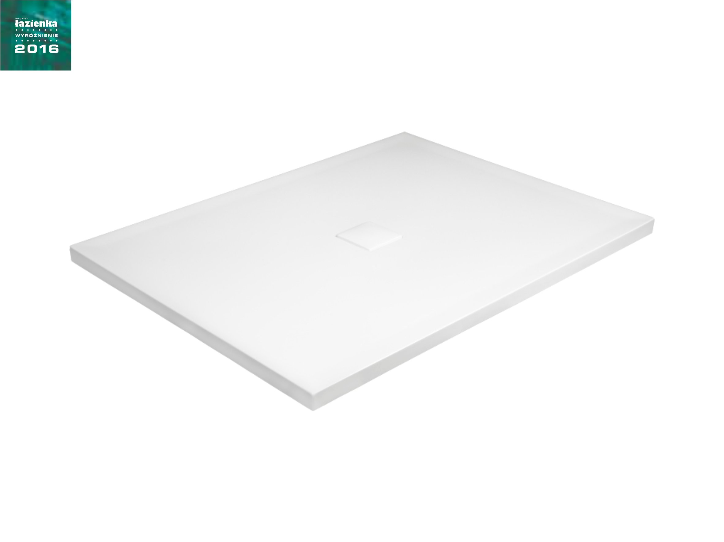 Brodzik prostokątny Besco Nox 110 biały 110x90x3 BMN110-90-BB