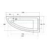 Zdjęcie Wanna narożna asymetryczna Besco Praktika 150 Prawa 150x70cm WAP-150-NP