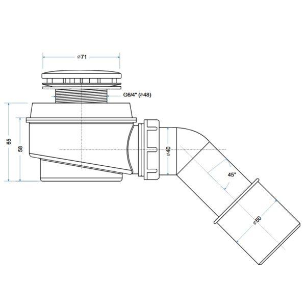 Zdjęcie Syfon brodzikowy Besco fi 50mm OB-50