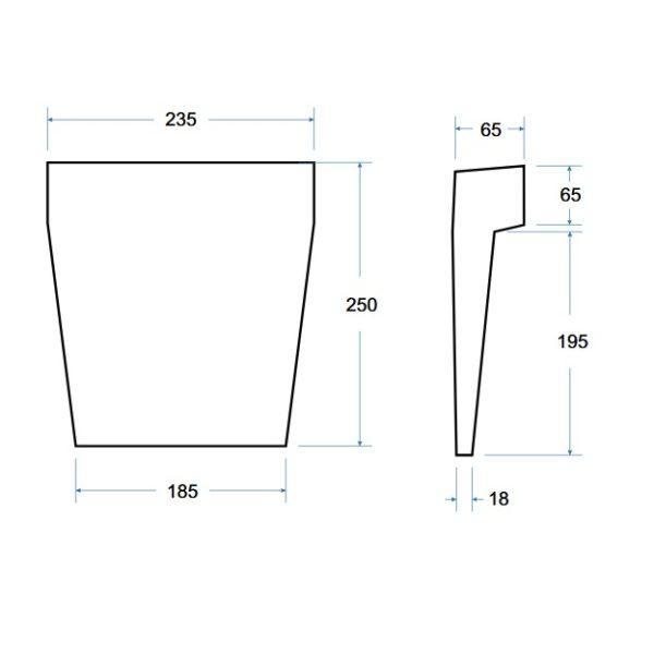 Zdjęcie Zagłówek do wanny poliuretanowy Besco Modern bialy ZWM