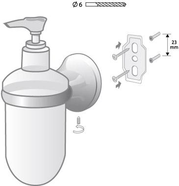 Zdjęcie Dozownik mydła z uchwytem Bisk Ontario 00209