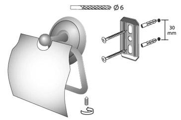 Zdjęcie Uchwyt na papier WC z klapką Bisk Deco 00403