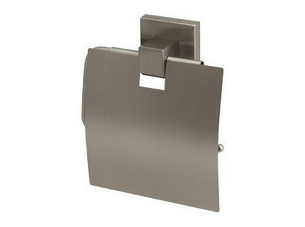Uchwyt na papier WC z klapką Bisk Side Brushed 00582