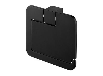 Uchwyt na papier WC z klapką Bisk Futura Black 02961