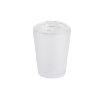 Kubek na szczoteczki Bisk Frost biały 06340