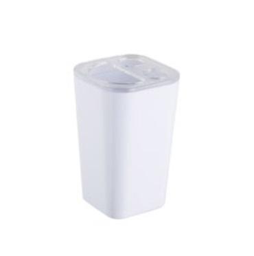 Pojemnik na szczoteczki Bisk Simple biały 06349