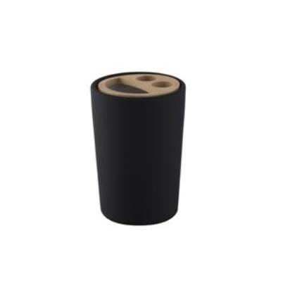 Pojemnik na szczoteczki Bisk Plain czarny 06571