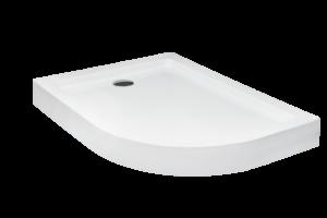 Brodzik asymetryczny Besco Saturn 100P biały 100x80x4 BAS-100-NP