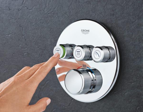 Zdjęcie GROHE Grohtherm SmartControl – podtynkowa bateria termostatyczna do obsługi trzech wyjść wody 29121000 .