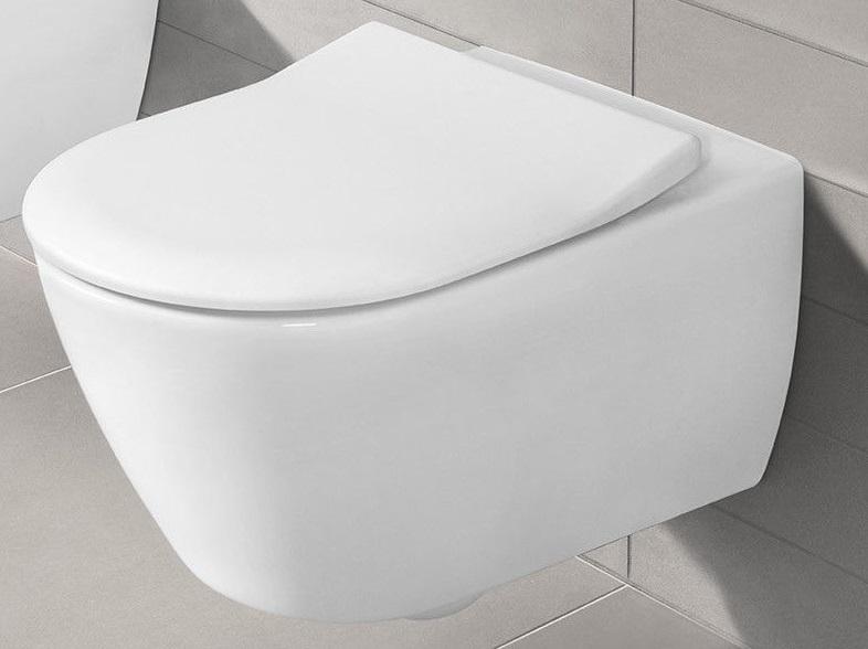 Miska WC wisząca + deska wolnoopadająca Villeroy Boch Subway 2.0 Slimseat + uszczelka wygłuszająca GRATIS 56001001 + 9M78S101