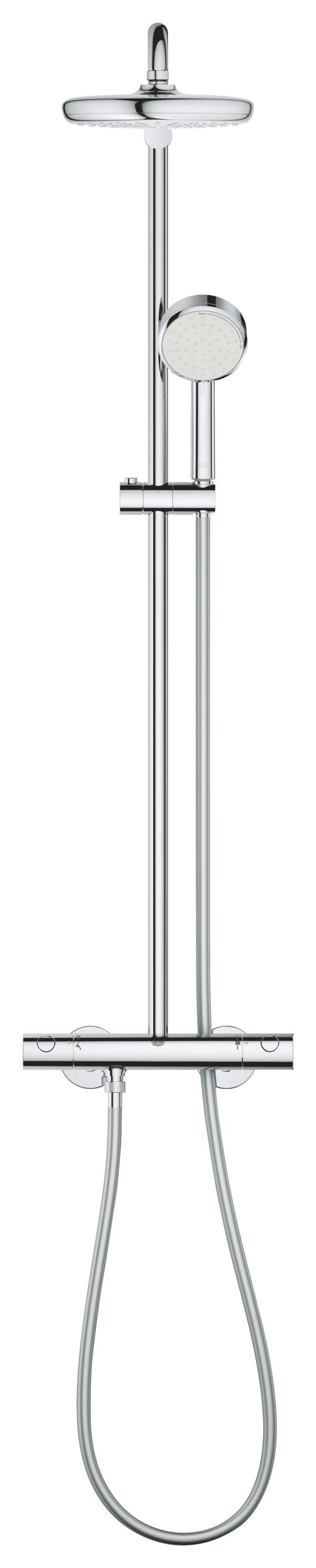 Zdjęcie GROHE Tempesta Cosmopolitan System 210 – system natryskowy z baterią termostatyczną 27922001