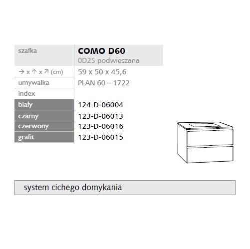 Zdjęcie Szafka pod umywalkę Defra Como 60cm biała 124-D-06004