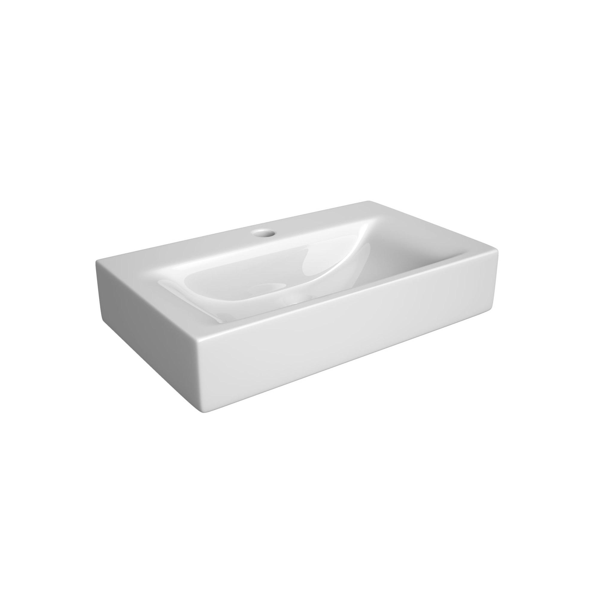 Umywalka wpuszczana w blat  ceramiczna Defra Valencia 50 L 30x50x1,5 cm 1420