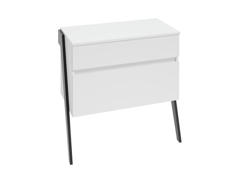 Szafka z blatem stojąca Defra Op-Arty B80 Biały Połysk, Czarny Mat 83,5×81,7×40,5 cm 215-B-08007
