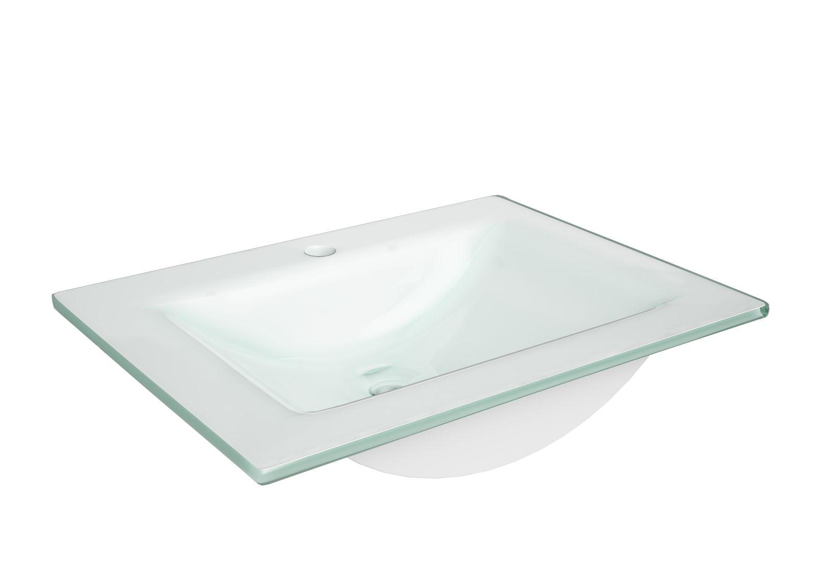 Umywalka meblowa Defra Puro 60 szklana biała 3072