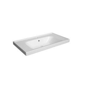 Umywalka  wpuszczana w blat ceramiczna Defra Frame 80 L 80x45 cm 4094
