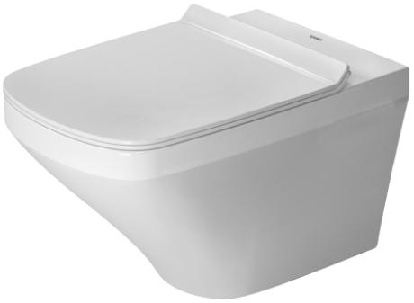 Zdjęcie Miska WC wisząca bez rantu spłukującego + deska wolnoopadająca Duravit DuraStyle 45510900A1 (25510900A0+006379000)