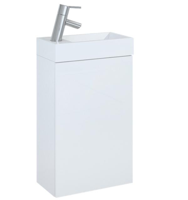 Zestaw szafka pod umywalkę + umywalka Elita Young Basic 40cm 1D 163068 white