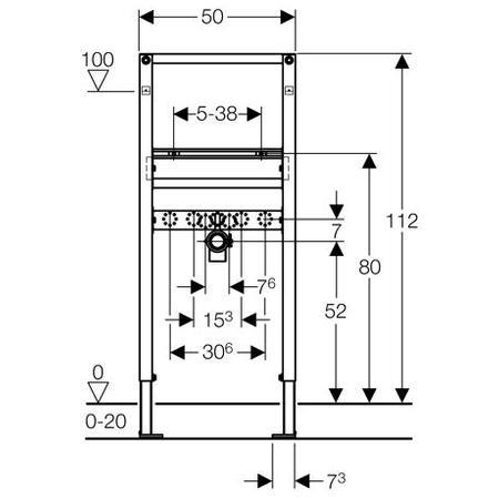 Zdjęcie Stelaż do umywalki Geberit Duofix dla baterii stojącej H112 111430001