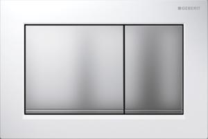 Przycisk spłukujący Geberit Omega30 biały/chrom matowy 115.080.KL.1