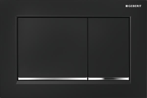 Zdjęcie Przycisk uruchamiający Geberit Omega30 czarny/chrom błyszczący 115.080.KM.1