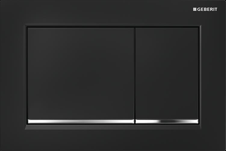 Przycisk uruchamiający Geberit Omega30 czarny/chrom błyszczący 115.080.KM.1