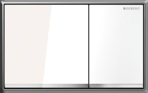 Przycisk spłukujący Geberit Omega60 szkło białe 115.081.SI.1