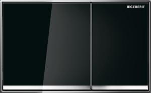Przycisk spłukujący Geberit Omega60 szkło czarne 115.081.SJ.1