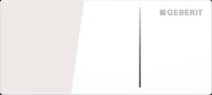 Przycisk uruchamiający zdalny Geberit Omega70 szkło białe 115.084.SI.1