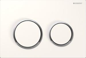 Przycisk spłukujący Geberit Omega20 biały/chrom błyszczący 115.085.KJ.1 @