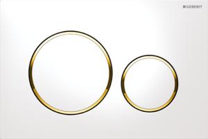 Przycisk spłukujący Geberit Sigma20 biały/złocony/biały 115.882.KK.1