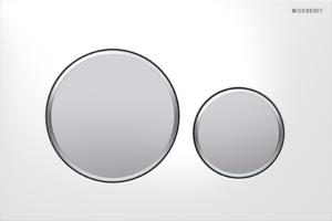 Przycisk spłukujący Geberit Sigma20 biały/chrom matowy/chrom matowy 115.882.KL.1
