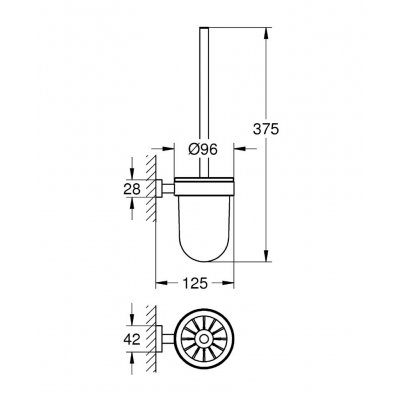 Zdjęcie Szczotka toaletowa Grohe Essentials Cube 40513001