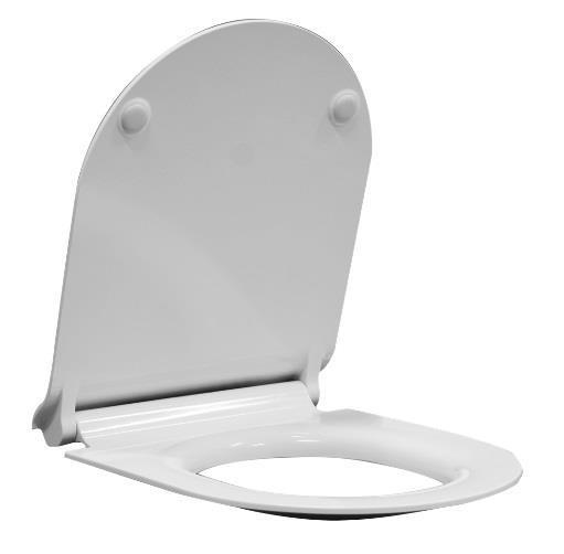 Deska WC wolnoopadająca GSI Ceramica Norm/Pura Slim/Kube MS86CSN11 .