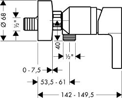 Zdjęcie Bateria natryskowa Hansgrohe Metris S 31660000
