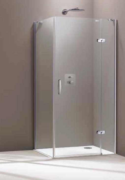 Drzwi skrzydłowe Huppe Aura elegance ze stałym segmentem do ścianki bocznej 100cm Prawe 400403.087.322 Anti-plaque