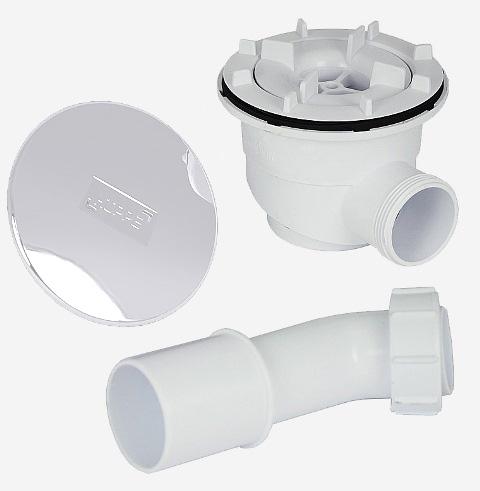 Syfon i korek do brodzika Huppe biały 508055R55