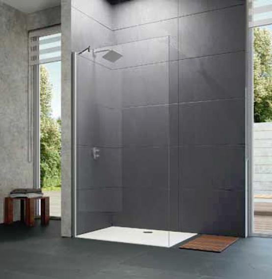 Ścianka boczna wolnostojąca Huppe Design elegance 75cm 8E1112.087.322 Anti-plaque