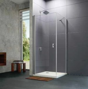 Ścianka boczna krótka Huppe Design Elegance do drzwi skrzydłowych 90cm 8P1018.087.322 Anti-plaque
