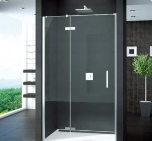 Drzwi prysznicowe Ronal Pur 120x200cm ze ścianką stałą prawe bezprofilowe PU13DSM11007 @ ^
