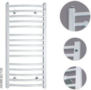Grzejnik łazienkowy Instal-Projekt Ambra R AMBR-50/70 biały