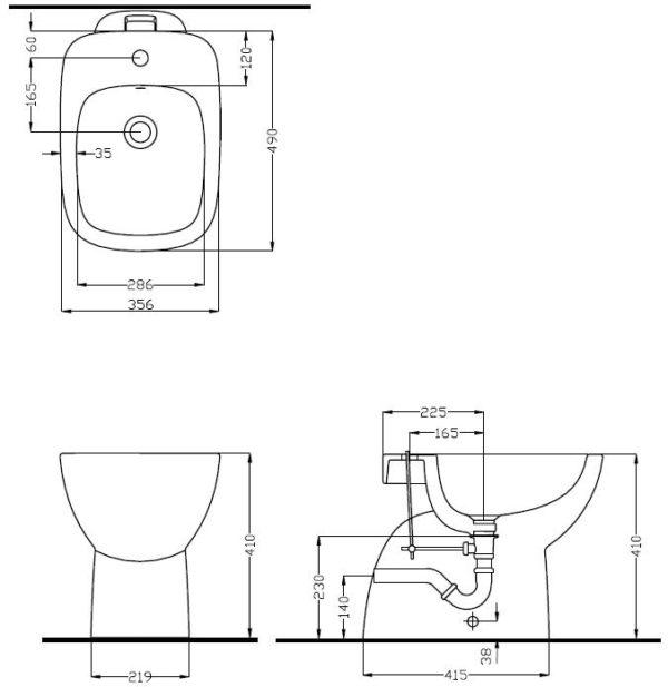 Zdjęcie Bidet stojący Koło Style L25000000