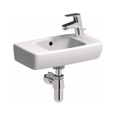 Umywalka prostokątna Koło Nova Pro z przelewem 45cm M32247 prawa