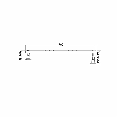 Zestaw montażowy Koło do brodzików SN6