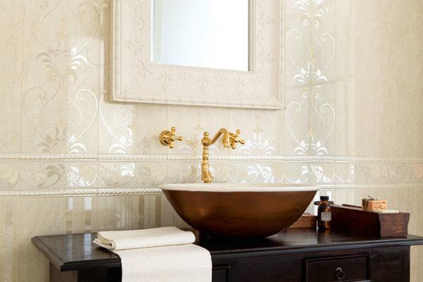 Zdjęcie Dekoracja ścienna Novabell Arte Decoro damasco crema marfil 25×59,1cm ARWD30K