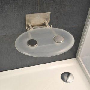 Siedzisko prysznicowe Ravak Ovo P clear B8F0000000